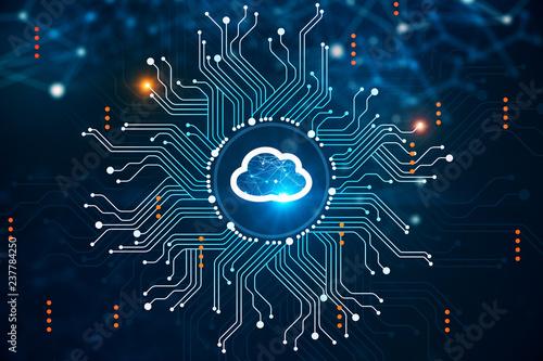 Fotografía  Cloud computer interface