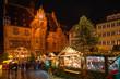 canvas print picture - Marburg Weihnachtsmarkt