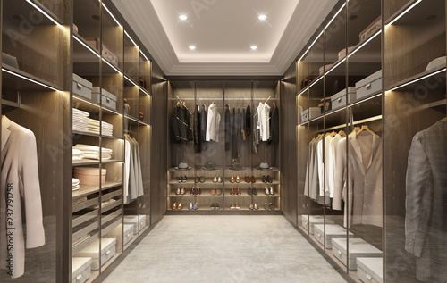 Luxury modern men dressing room Fototapet