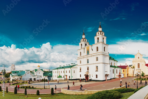 Foto  Minsk, Belarus. Cathedral Of Holy Spirit And Monastery Of Holy S