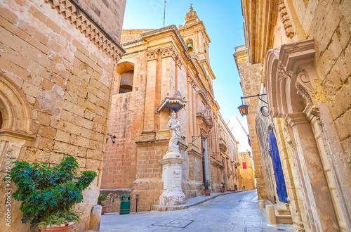 Walk along Mdina streets, Malta Wallpaper Mural