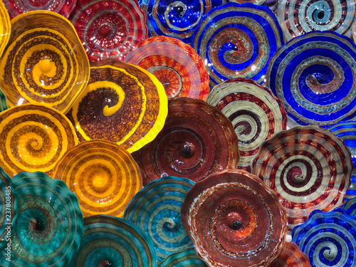 Fotografie, Obraz  abstract colorful swirls design