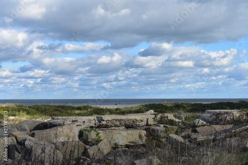 Fotografie, Obraz  Sandy Hook Beach at Atlantic Highlands, New Jersey, on a beautiful sunny autumn