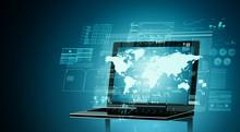 Internet Computerized Technology Concept