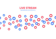 Social Media Live Stram Icons Content Background