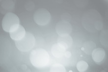 Abstract Black And Whit Or Gray Bokeh Background.