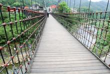Jingan Suspension Bridge Linked Between Shifen