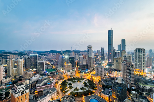 City Scenery of Zhongshan Square in Dalian, Liaoning Province, China