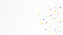 Communication Technology Dot Data Network Abstract