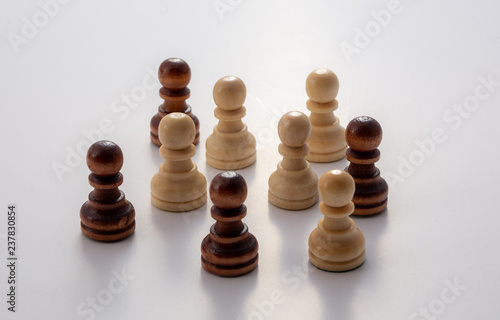 Fotografie, Obraz  mixing chess figures