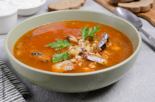 Traditional tomato fish soup Fototapeta
