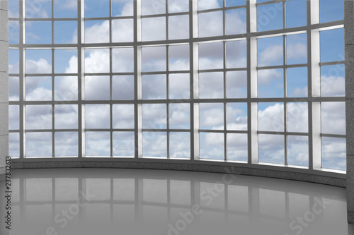 Fototapeta High rise concept background of luxury window grid with view of sky and clouds obraz