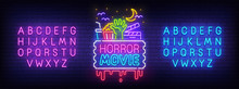 Horror Movie Neon Sign, Bright...