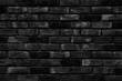 Black brick wall as a background or texture