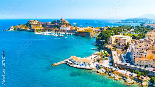 Obraz na plátne  Panoramic view of Kerkyra, capital of Corfu island, Greece