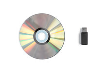CD Disc And USB Flash Isolated...