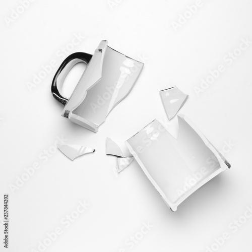 Broken ceramic mug