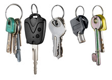 Different Keys Collection Isolated On White Background