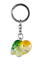 A Tortoise Key Chain With A Ring For Keys Isolated On White With Clipping Path