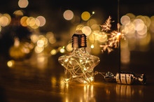 Beautiful Yellow-gold Bokeh An...