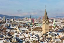 The City Of Zurich In Switzerl...