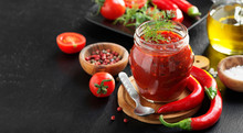 Traditional  Chili Sauce In A ...
