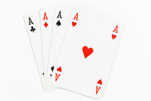 Four Playing Cards Of Aces Iso...