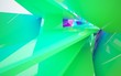 Leinwanddruck Bild - Abstract dynamic interior with gradient colored objects. 3D illustration and rendering