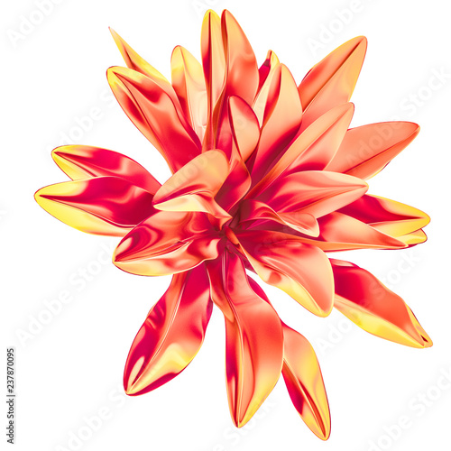 Obrazy wieloczęściowe Abstract flower, art creative living coral Pantone 2019 design element, 3d rendering