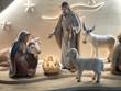Decorated clay doll descriped Nativity of Jesus.