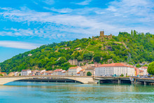 Ruins Of Medieval Castle Overlooking Vienne Town In France
