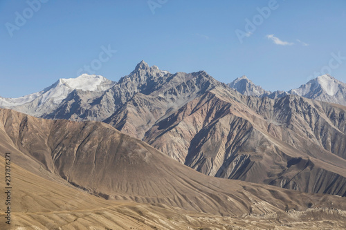 Beautiful landscape in the Pamir mountains Canvas Print