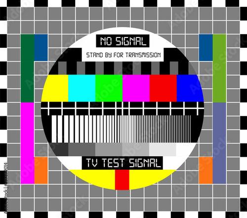 No TV Signal Chanel Program Background Template, Design Vector Eps 10 Wall mural