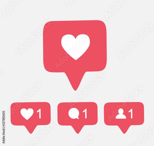 pink like follower comment icon button insta counter vector notification instagram download buy this stock vector and explore similar vectors at adobe stock adobe stock pink like follower comment icon button