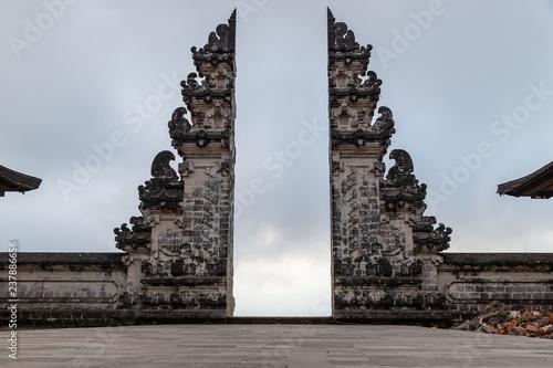 Ancient gates, Pura Lempuyang temple near Agung volcano, Bali island, Indonesia