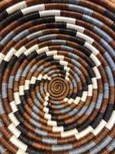 Close Up Of A Native American Indian Woven Basket