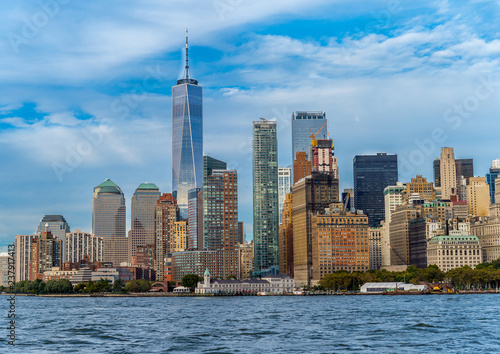 Spoed Foto op Canvas Stad gebouw View of Manhatten skyscrapers in New York.