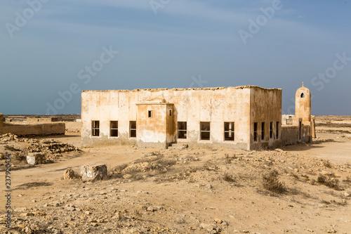 Fotografie, Obraz  Ruined ancient old Arab pearling and fishing town Al Jumail, Qatar