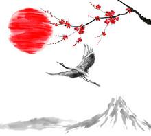 Oriental  Traditional Sumi-e P...