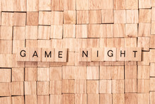 Game Night Spelled Out In Wood...