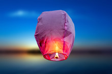 Balloon Fire Sky Lantern Flyin...