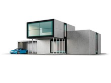 Contemporary House With Garage...