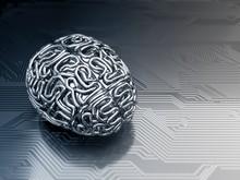 Futuristic Artificial Brain, Illustration