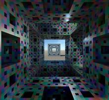 Interior Of Menger Sponge, Illustration