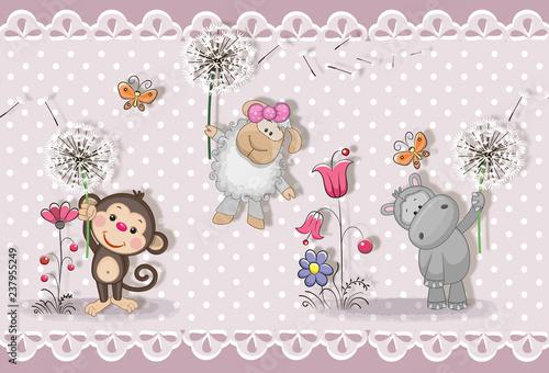 3d-tapeta-sliczny-dziecka-tlo-z-malymi-zwierzetami-kartka-z-zyczeniami-pastelowe-tlo