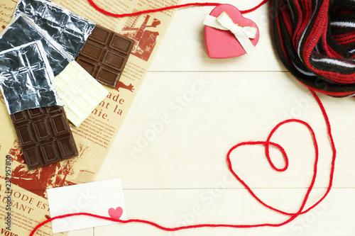 Fotografia  image of valentine with scarf