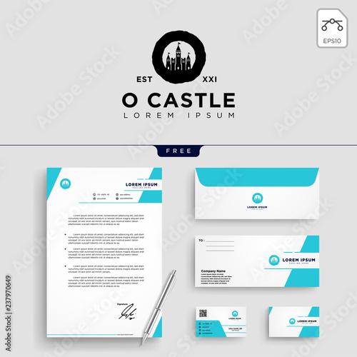 castle logo template vector illustration Canvas Print