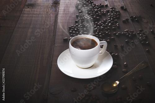 Fototapeta Aromatic fresh and invigorating morning coffee obraz na płótnie