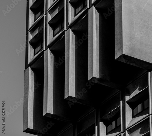 Detail of a brutal office tower Fototapet