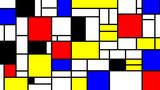 Wzór imitacji neoplastycyzmu, styl Piet Mondrian. Duża tekstura tło - 237995204